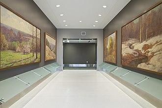 Sidney & Lois Eskenazi Hospital - Hoosier Group painter T. C. Steele's Four Seasons on display at Eskenazi.
