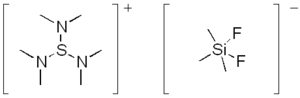 Sulfonium - Structure of tris(dimethylamino)sulfonium difluorotrimethylsilicate.