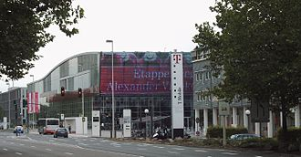 T-Mobile corporate headquarters, Bonn TMOBI.jpg