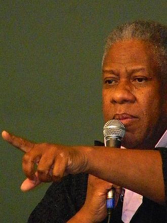 André Leon Talley - Talley fielding questions at New York book signing, June 10, 2013.