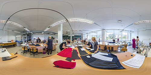 360° view on the Tallinn Industrial Education Centre sewing class