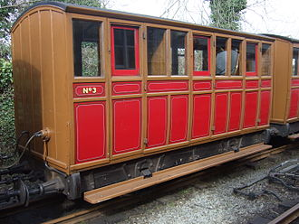 Brown, Marshalls and Co. Ltd. - Talyllyn Railway carriage number 3, the earliest coach built for the railway in 1866.