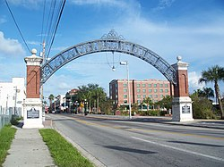 Gateway to Ybor City on 7th. Ave near the Nick Nuccio Parkway