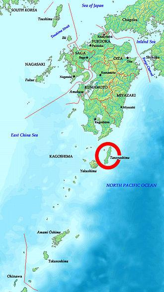 Tanegashima - Image: Tanegashima location