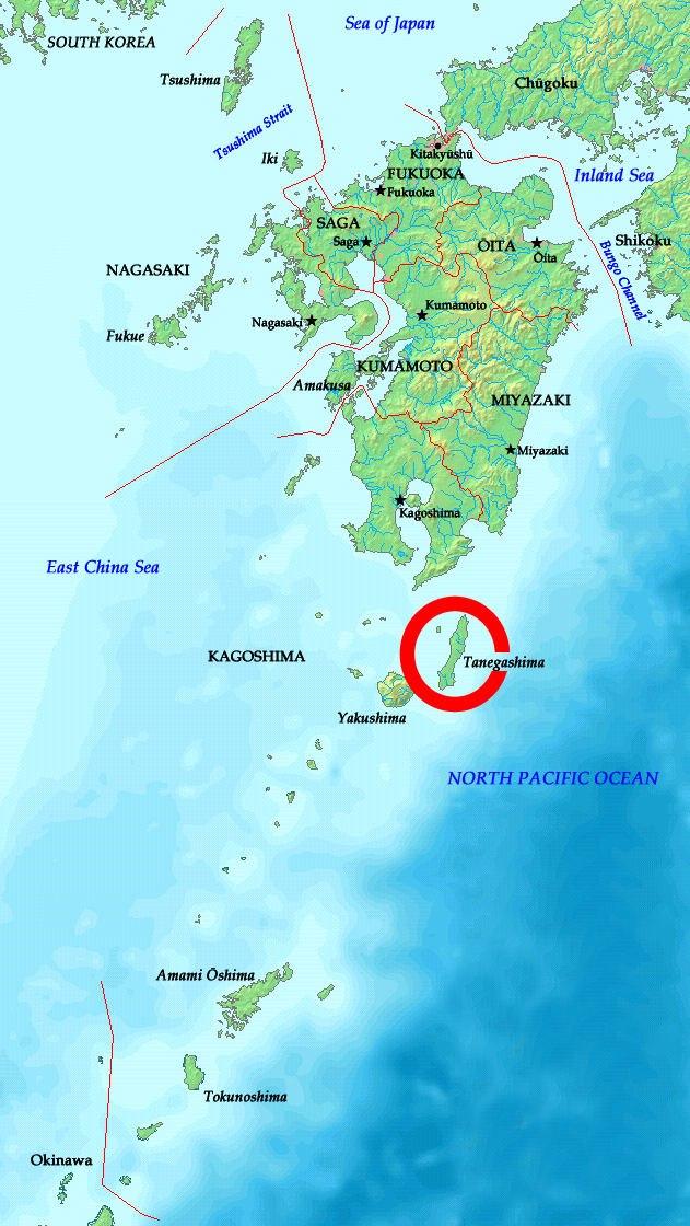 Tanegashima location