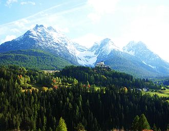 Engadin - Tarasp Castle, Lower Engadine