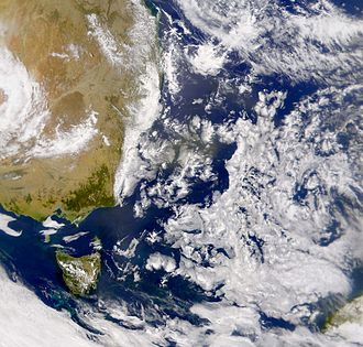 Tasman Sea - Satellite photo of the Tasman Sea