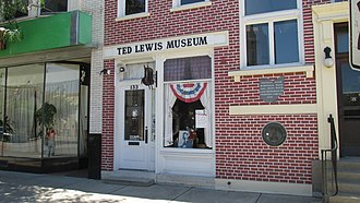 Circleville, Ohio - The Ted Lewis Museum, also the last remaining building from the town's circular plan