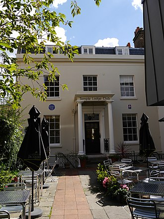 Frank Brangwyn - Temple Lodge, Hammersmith, London