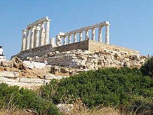 Temple of Poseidon - Western fascade