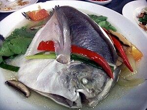 Teochew cuisine - Image: Teochew pomfret