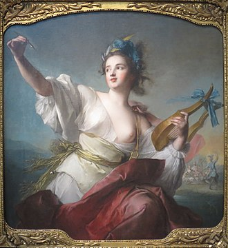 Terpsichore - Terpsichore, Muse of Music and ballet, an oil on canvas painting by Jean-Marc Nattier (1739).