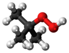 Ball-and-stick model of the tert-butyl hydroperoxide molecule