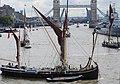 Thames barge parade - downstream - Thalatta 6778c.JPG