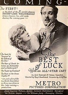 <i>The Best of Luck</i> 1920 film