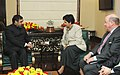 The Chairman, USIBC (US-India Business Council), Ms. Indra K. Nooyi along with a delegation meeting the Union Minister of Commerce and Industry, Shri Anand Sharma, in New Delhi on November 09, 2009.jpg