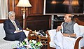 The Chief Minister of Jammu and Kashmir, Mufti Mohammad Sayeed calling on the Union Home Minister, Shri Rajnath Singh, in New Delhi on April 07, 2015.jpg