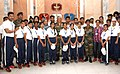 The Chief of Army Staff, General Bipin Rawat with the students and teachers from Jammu & Kashmir, in New Delhi on June 29, 2018.JPG
