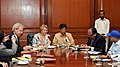 The Commissioner, Kendriya Vidyalaya Sangathan, Shri Avinash Dikshit and the Regional Director, Goethe-InstituteMax Mueller Bhavan, Mr. Heiko Sievers signing a Memorandum of Understanding.jpg