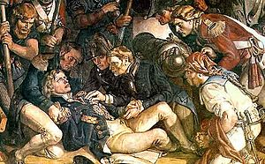 The Death of Nelson (Maclise painting) - Detail from The Death of Nelson in the Palace of Westminster