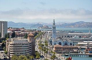 Embarcadero (San Francisco) The eastern waterfront and roadway of the Port of San Francisco, along San Francisco Bay