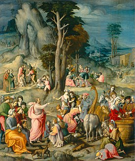 The Gathering of Manna-1540 1555-Bacchiacca