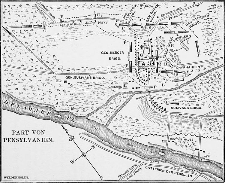 The Hessians - Wiederhold's plan of the Battle of Trenton.jpg