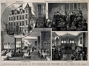 London Chest Hospital - The City of London Hospital for Diseases of the Chest - a montage of images from the Wellcome Trust