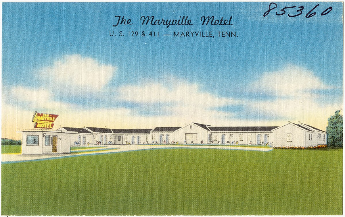 MARYVILLE, Tennessee TN Roadside TRAVELERS MOTEL