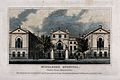 The Middlesex Hospital; seen from the south. Coloured engrav Wellcome V0013605.jpg