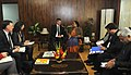 The Minister of State (Independent Charge) for Environment and Forests, Smt. Jayanthi Natarajan with the Norwegian and Mexican delegation, in New Delhi on February 01, 2012.jpg