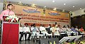 The Minister of State for Panchayati Raj, Shri Nihalchand addressing at the 'National Meeting of Tribal Women Gram Panchayat Presidents from Fifth Schedule Areas', at Vijayawada, Andhra Pradesh.jpg