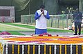 The Minister of State for Social Justice & Empowerment, Shri Ramdas Athawale paying homage at the Samadhi of Babu Jagjivan Ram, on his 110th Birth Anniversary, at Samta Sthal, in New Delhi on April 05, 2017.jpg
