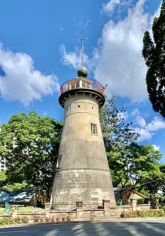The Old Windmill in Wickham Park, built by convicts in 1828 The Old Windmill, Brisbane, Queensland, April 2020, 01.jpg