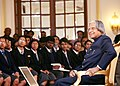 The President, Dr. A.P.J. Abdul Kalam interacting with the students of various schools of New Delhi at Rashtrapati Bhavan on the eve of Republic Day on January 25, 2007.jpg