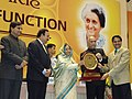 The President, Smt. Pratibha Devisingh Patil gave away the National Award for Renewable Energy, on the occasion of the Silver Jubilee function of the Ministry of New and Renewable Energy, in New Delhi on November 22, 2007.jpg