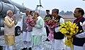The Prime Minister, Shri Narendra Modi arrives in Gurugram for Haryana Swarna Jayanti Celebrations, in Haryana (1).jpg