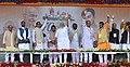 The Prime Minister, Shri Narendra Modi at the public meeting to mark launch of 70th Freedom Year Celebrations, in Bhabra village, Alirajpur district, Madhya Pradesh.jpg