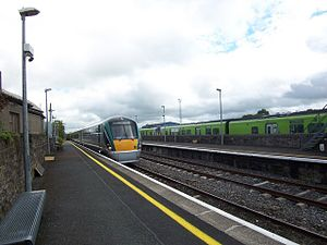 Longford railway station - The Sligo train in Longford.