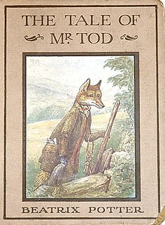 <i>The Tale of Mr. Tod</i> childrens book written and illustrated by Beatrix Potter