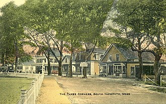 Yarmouth, Massachusetts - The Three Corners in South Yarmouth c. 1910
