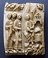 The Three Marys at the Sepulchre, Cologne, c. 1150-1160, walrus ivory - Museum Schnütgen - Cologne, Germany - DSC00147.jpg