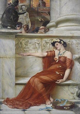 John Reinhard Weguelin - The Tired Dancer (1879).