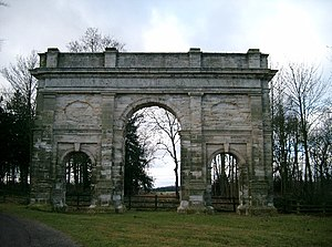 Sir Thomas Gascoigne, 8th Baronet - Triumphal Arch at Parlington Hall, designed by Thomas Leverton and erected 1783.