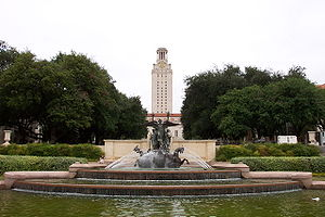 The University of Texas at Austin - Littlefield Fountain and Main Building.jpg