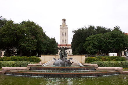 The University of Texas at Austin The University of Texas at Austin - Littlefield Fountain and Main Building.jpg