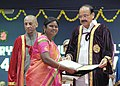 The Vice President, Shri M. Venkaiah Naidu awarding the Degrees to the students, at the 49th Convocation of Acharya N.G. Ranga Agricultural University (ANGRAU), in Nellore, Andhra Pradesh (1).jpg