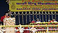 The Vice President, Shri Mohd. Hamid Ansari delivering the convocation address of the Banaras Hindu University, at Varanasi on March 12, 2011.jpg