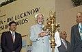 The Vice President, Shri Mohd. Hamid Ansari lighting the lamp at the presentation of Lakshmipat Singhania - IIM Lucknow National Leadership Awards, in New Delhi on June 10, 2009.jpg