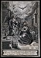 The Virgin reads her Bible as the angel appears with the Hol Wellcome V0034577.jpg